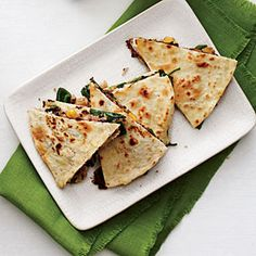 Crispy Vegetable Quesadillas | MyRecipes.com