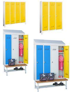 Garderobenschränke mit Höhe 1300 mm für Kindergarten