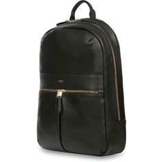 """The Mayfair Leather Beaux 14"""" Backpack is a full leather, super functional yet premium companion for those days when you just don't stop. Carry your tablet and laptop inside the main compartments and go totally hands-free."""