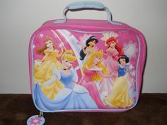 Disney 6 Princesses soft lunchbox
