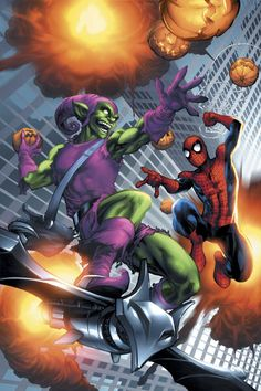 "#Spiderman #Fan #Art. (MARVEL AGE SPIDER-MAN VOL. 4 ""THE GOBLIN STRIKES"" Cover) By: Michael Ryan. (THE * 5 * STÅR * ÅWARD * OF: * AW YEAH, IT'S MAJOR ÅWESOMENESS!!!™)[THANK Ü 4 PINNING!!!<·><]<©>ÅÅÅ+(OB4E)"