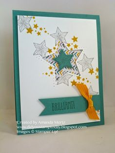 Did You Stamp Today?: Brilliant Star  Uses: Be the Star, star framelits, Moonlight DSP, Stampin' Up!, SU