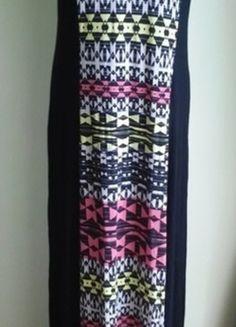 Kup mój przedmiot na #vintedpl http://www.vinted.pl/damska-odziez/dlugie-sukienki/14592410-sukienka-dluga-maxi-wyszczuplajaca-aztecki-wzor-george-42-44