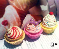 Cupcake Lip Gloss Ring - Strawberry - Ice Cream - Chocolate by GabriellesCreations
