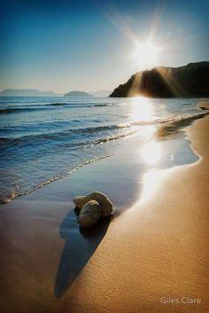 Gerakas Beach Sunset, Zakynthos, Greece by Giles Clare ~ where turtles come to nest.