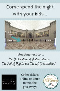 There are still tickets available for the January 31 sleepover at the National Archives. Imagine sleeping right next to the Bill of Rights and the Constitution! You can also enter to win tickets. More event will be held this year.