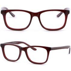 Square Men Women Frame Prescription Glasses Spring Hinge Sunglasses Red Burgundy #Unbranded