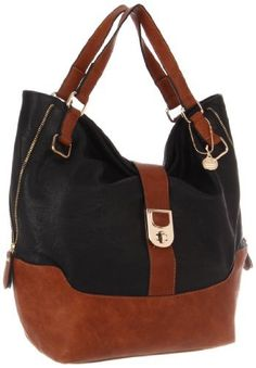 BIG BUDDHA Patmos Tote,Black...love this bag...saw it in yellow and brown too which was adorbs.