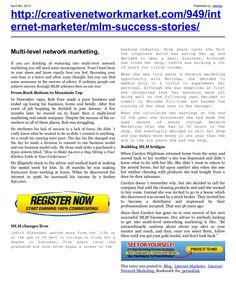 mlm-success-storiesnew by retrofaz via Slideshare