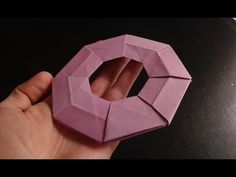 how to make paper frisbee origami - YouTube
