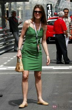 Charlotte Casiraghi at the Monaco GP 2009