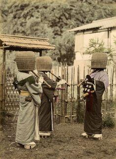 Komuso monks, Japan, 1887 ~ vintage everyday