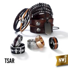 Our Men's Tsar collection is created out of quality materials such as stainless steel and premium leather.