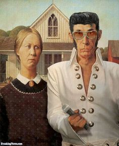 """American Gothic / """"Elvis"""" - from Freaking News"""