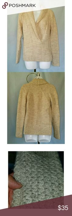DROP LOFT OATMEAL SHAWL COLLAR  SWEATER NWOT LOFT OATMEAL TEXTURED SHAWL COLLAR SWEATER this great muti-textured sweater will look great for work or play...nice and warm. Super cute! NWOT LOFT Sweaters
