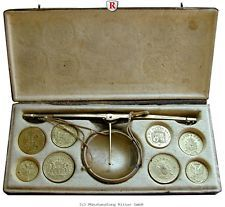RITTER Italien, Münzwaage vor 1800 aus Mailand #coins World Coins, Ebay, Crates, Scale, Knight, Italy, Leather, Black