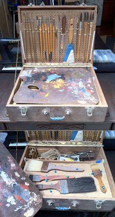 Benjamin Lai, Part The Art & Science Behind Decorative Painting - Pochade Box, Recycled Art Projects, Art Studio Organization, Art Deco Bathroom, Art Studios, Design Studios, Art Storage, My Art Studio, Science Art