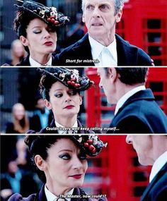 SPOILERS* When I heard this, I first screamed, then realized the doctor had just made out with the master...