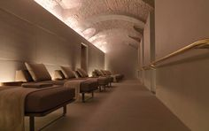 Spa at Four Seasons Hotel Milano by architect Patricia Urquiola _