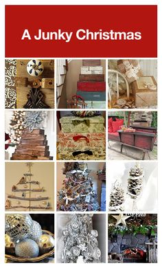 A clipboard filled with junk inspired Christmas decor! from hometalk, Hey Cool, that's my Angel of Reclaim on the top left, Petticoat Junktion Christmas Time Is Here, Christmas Mom, Rustic Christmas, Christmas Projects, All Things Christmas, Holiday Crafts, Holiday Fun, Vintage Christmas, Christmas Ideas