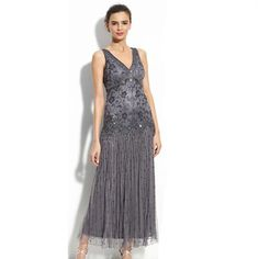 8f90921d84b Chiffon Tea Length Mother Of The Bride Dresses With Sequins Applique  Shining Plus Size Grey A