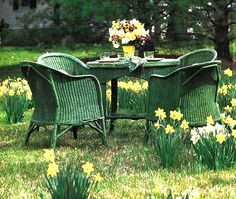 Vintage Wicker; Wonder if wicker could withstand rain or if it needs to come in during weather.