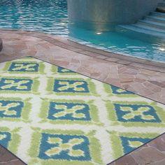 Walmart: Mohawk Home Summer Splash Indoor/Outdoor Nylon Rug, Turquoise Blue Outdoor Rug, Outdoor Carpet, Indoor Outdoor Area Rugs, Outdoor Living, Outdoor Decor, Lime Green Rug, Green Rugs, Carpet Sale