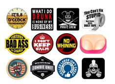 """HARD HAT STICKER STOP WHINING Crying baby sticker 2/"""" No Cry Babies"""