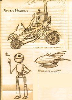 steampunk sketches - Pesquisa Google