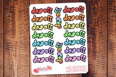 #planner #stickers #erincondren #doodle hand drawn planner stickers for Erin Condren