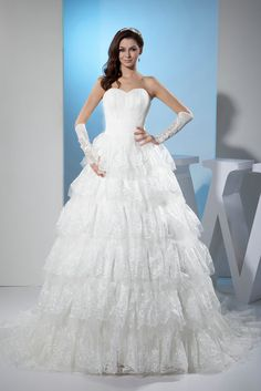 Lafa Rila Luxury and vintage Princess Sweetheart Tiered Pleated Court Train Tulle Satin Lace Wedding Dress 2013 is handcrafted just for you. Shop quality cheap wedding dresses with discount! Chapel Wedding Dresses, Corset Back Wedding Dress, Wedding Dresses Sydney, Wholesale Wedding Dresses, Wedding Dress Necklines, Sweetheart Wedding Dress, Wedding Party Dresses, Bridal Dresses, Bridesmaid Dresses