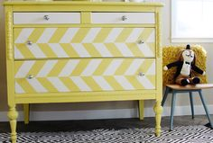 The Old Dresser Becomes A Brightly Colored Children's Dresser  By Design Sponge