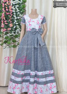 Simple Frock Design, Fancy Dress Design, Girls Frock Design, Long Skirt Top Designs, Long Gown Design, Simple Frocks, Indian Gowns Dresses, Maxi Dresses, Frocks And Gowns