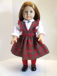 Holiday jumper and blouse for American Girl Emily by agseamstress