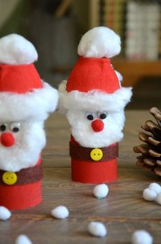 {DiY} Weihnachtsmann Retrieval Version in Kartonrolle ! - Kid Crafts, Hand and Foot - Kids Crafts, Christmas Crafts For Kids, Christmas Activities, Christmas Projects, Preschool Crafts, Kids Christmas, Holiday Crafts, Diy And Crafts, Christmas Decorations