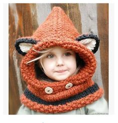 Winter New Cute Fox Knitted Beanies For Kids Thick Warm Balaclava Hat With Neck Warmer Girls Boys Gift-in Hats & Caps from Mother & Kids on Aliexpress.com   Alibaba Group