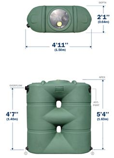 $475- black or green!  Bushman Tanks | 265 Gallon Slimline | Tanks For Less