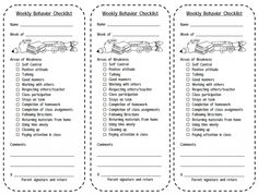 individual elementary class schedule template - Google Search