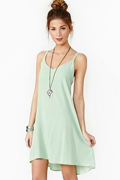 Lace Up Dress Mint