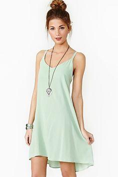 Lace Up Dress Mint