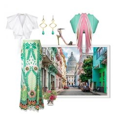 """""""Havana"""" by easy-dressing ❤ liked on Polyvore featuring Temperley London, Chelsea Paris, Diane James and The Volon"""