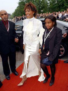 Whitney Houston and a young Bobbi Kristina