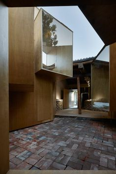 Micro-Hutong is a building experiment by Zhang Ke's standardarchitecture team on the Yang-Mei-Zhu street of Dashilan area, Beijing, China
