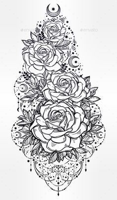 Flower Decorative Rose Artwork - Decorative Symbols Decorative