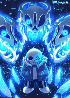 Sans and his Gaster Blasters.
