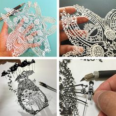 Japanese artist Riu (aka captivates the mind with his remarkably intricate paper cut designs. Winner of multiple online art competitions, the youn Kirigami, Diy Arts And Crafts, Paper Crafts, Paper Cut Design, Arte Sketchbook, Cardboard Paper, Art Competitions, Paper Artwork, Quilling Patterns