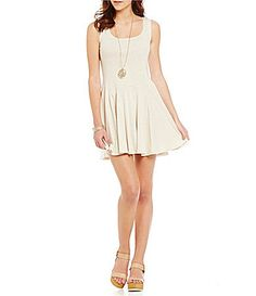 Copper Key Knit Swing Dress #Dillards
