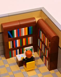 Modular Library vote to have Lego make set. Go to link and vote! Lego will make this available to buy, if enough votes are posted. That is how Lego made the Ghostbusters car. Lego Modular, Lego Design, Legos, Deco Lego, Pokemon Lego, Lego Furniture, Minecraft Furniture, Furniture Ideas, Lego Activities