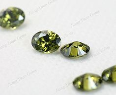 50PCS Size 3x5~13x18mm AAAAA Black Olive Color Oval Shape Loose Cubic Zirconia CZ Stone For Jewelry Diy (6x7mm 50pcs) >>> More info could be found at the image url.
