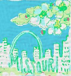 Lilly Pulitzer - State of Mind Patch - Missouri